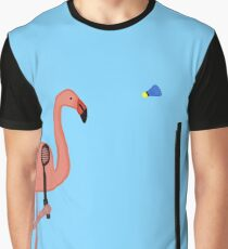 badminton flamingos Graphic T-Shirt