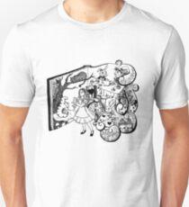 Alice in Wonderland Illustration Unisex T-Shirt
