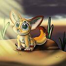Big-Eyed Fennec Fox Cutie by treasured-gift