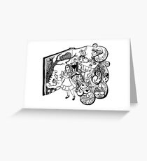 Alice in Wonderland Illustration Greeting Card