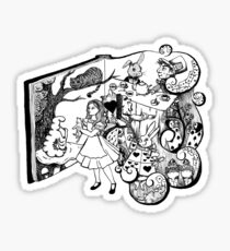 Alice in Wonderland Illustration Sticker