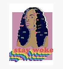 Stay Woke fan art Pride week  Photographic Print