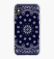 Vinilo o funda para iPhone Bandana - Azul marino -