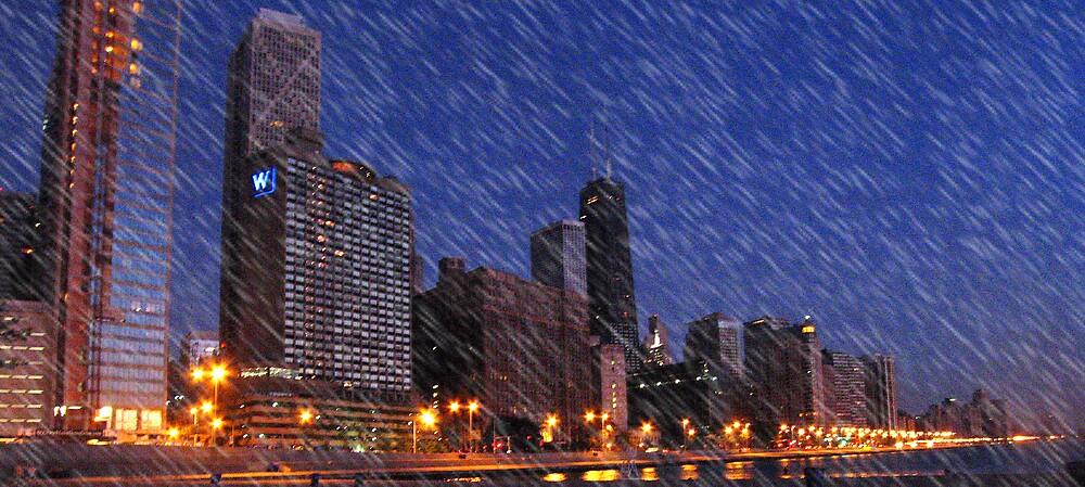 chicago rain by JMDunworth