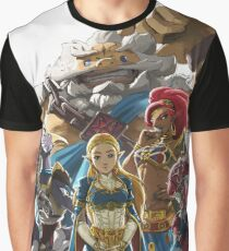 The Legend of Zelda - Breath of the Wild - Champions' Artwork - Link Graphic T-Shirt