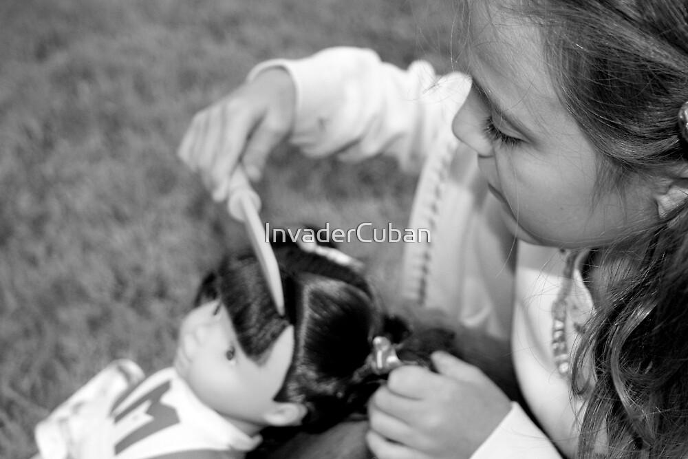 Combing Hair by InvaderCuban