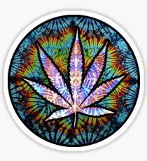 Surreal Weed Leaf Sticker