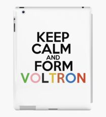 Keep calm and form Voltron! iPad Case/Skin