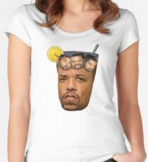 Just Some Ice Tea and Ice Cubes Tshirt design Women's Fitted Scoop T-Shirt