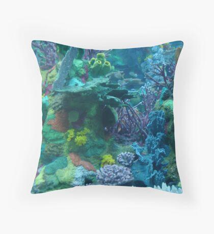 Coral Gardens Throw Pillow