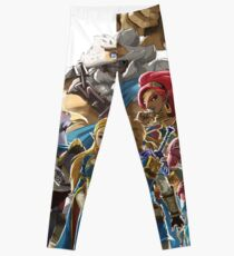 The Legend of Zelda - Breath of the Wild - Champions' Artwork - Link and Zelda Leggings