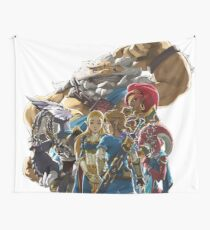 The Legend of Zelda - Breath of the Wild - Champions' Artwork - Link and Zelda Wall Tapestry