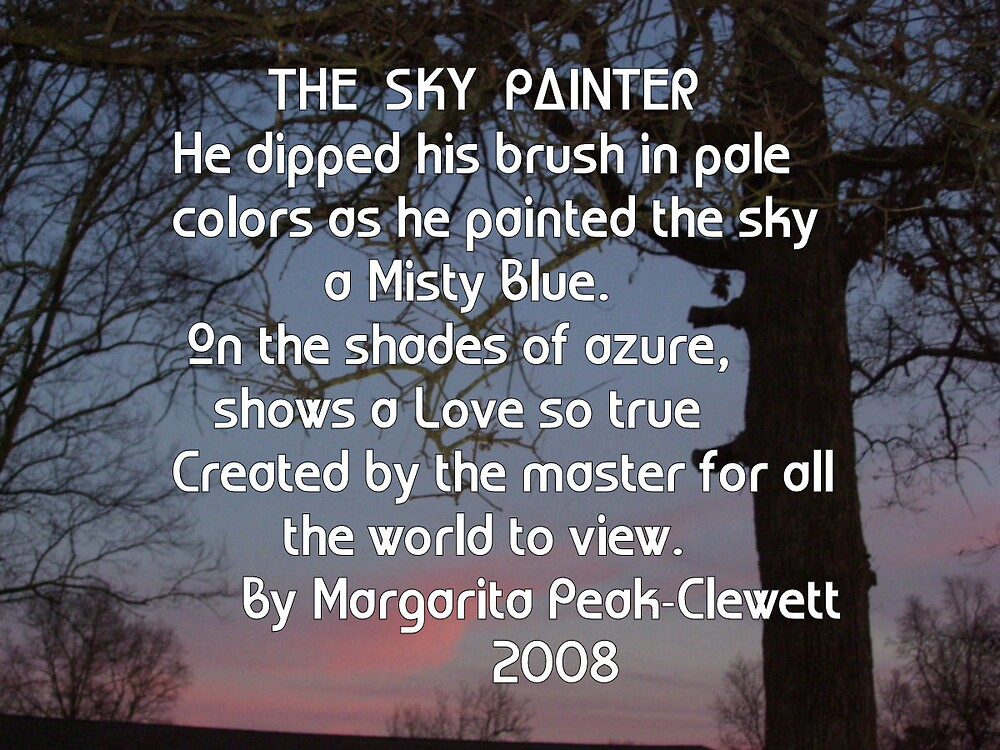 THE SKY PAINTER by mpeakclewett