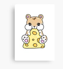 Hamster and Cheese Canvas Print