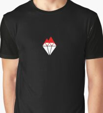 A Cool Hot Diamond Mountain Simple Design Graphic T-Shirt
