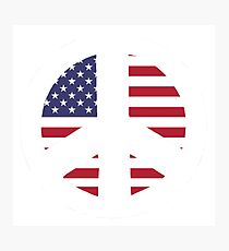 American Flag Peace Sign Photographic Print
