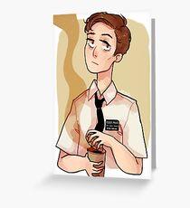 Kaffee Junge Grußkarte