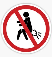 NO Farting Sign Sticker
