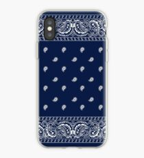 Bandana - Blue - Paisley Bandana   iPhone Case