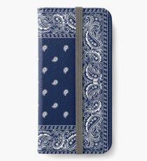 Bandana - Blue - Paisley Bandana   iPhone Wallet/Case/Skin