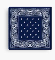 Bandana - Blue - Paisley Bandana   Canvas Print