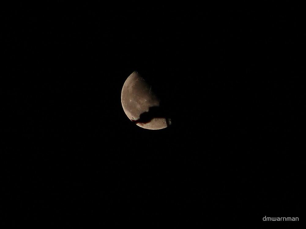 Moon cracks apart by dmwarnman