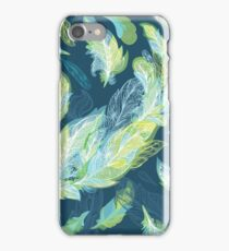 Greenery Romantic Vector Feather Pattern iPhone Case/Skin