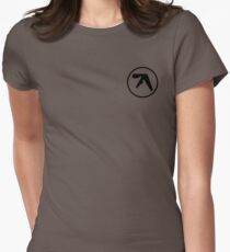 aphex twin logo ( Black ) Womens Fitted T-Shirt