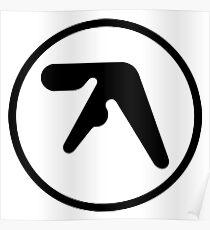 aphex twin logo ( Black ) Poster