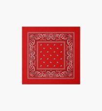 Bandana - Red  Art Board