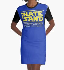 For sand haters (yellow) Graphic T-Shirt Dress