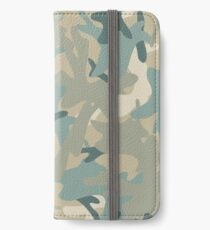 Camouflage military background. Seamless pattern. iPhone Wallet/Case/Skin