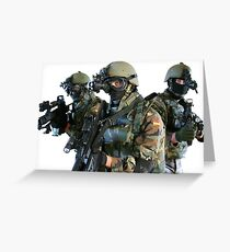 MILITARY MEN MERCHANDISE Greeting Card