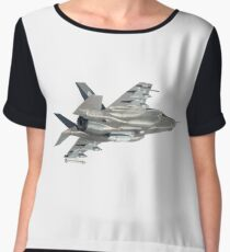 BELLY OF THE FIGHTER JET Women's Chiffon Top