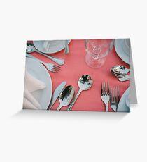 Tableware Greeting Card