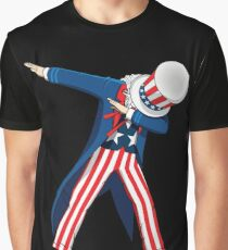 Funny Dabbing Uncle Sam 4th of July T-shirt Graphic T-Shirt