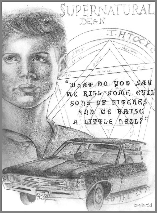 Dean Winchester - Supernatural by teelecki