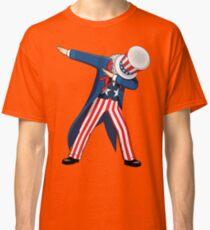 Funny Dabbing Uncle Sam 4th of July T-shirt Classic T-Shirt
