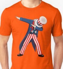 Funny Dabbing Uncle Sam 4th of July T-shirt Unisex T-Shirt