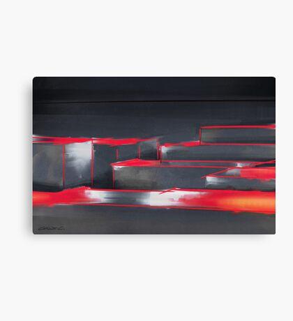 Red Maze Canvas Print