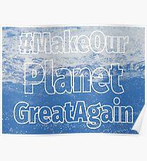 #MakeOurPlanetGreatAgain Greenland Ice Poster