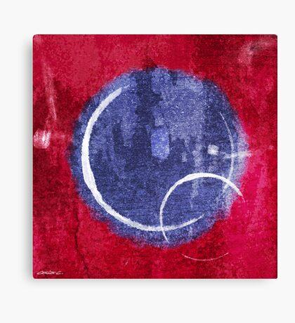 Textured Blue Moon Canvas Print