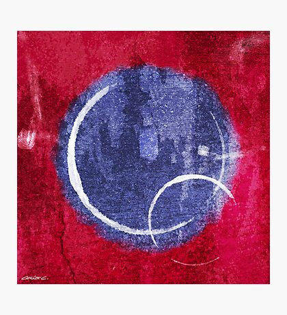 Textured Blue Moon Photographic Print