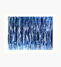 Blue In Motion Art Print