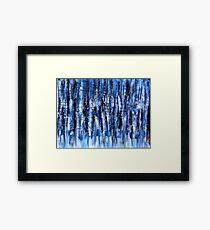 Blue In Motion Framed Print