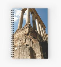 Temple of Saturn Spiral Notebook