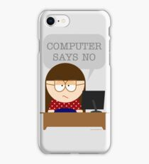Computer says no iPhone Case/Skin