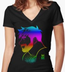 ADAM LIKES RAINBOWS - GAY PRIDE Women's Fitted V-Neck T-Shirt