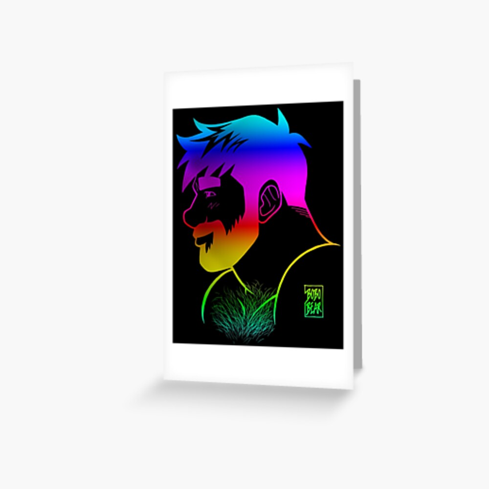 ADAM LIKES RAINBOWS - GAY PRIDE Greeting Card