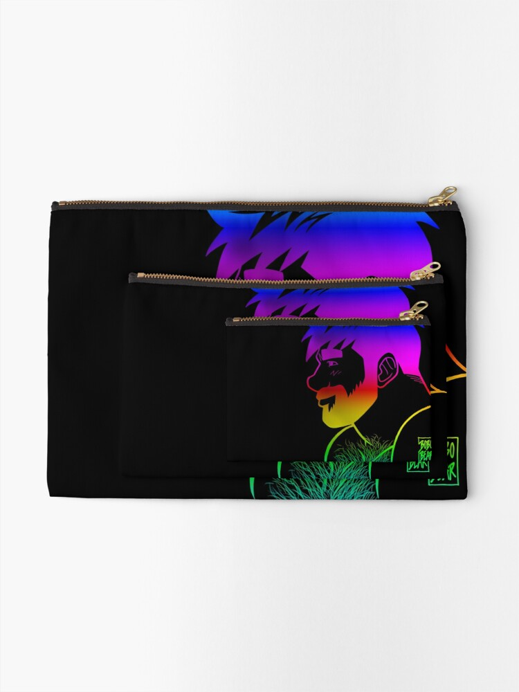 Alternate view of ADAM LIKES RAINBOWS - GAY PRIDE Zipper Pouch
